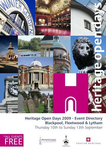 Heritage Open Days 2009 - Event Directory ... - Visit Lancashire