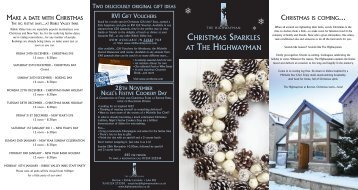 CHRISTMAS SPARKLES AT THE HIGHWAYMAN - Visit Lancashire