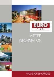 Mieterinformation_November 2009 klein - EURO PLAZA