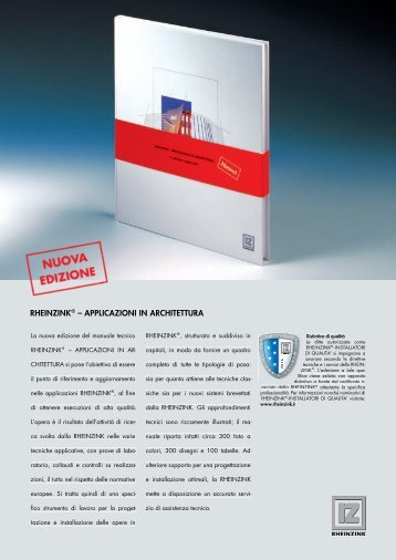 RHEINZINK® – APPLICAZIONI IN ARCHITETTURA - Edilio