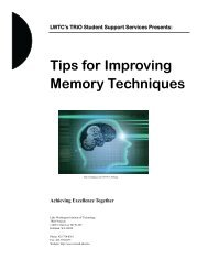 Tips for Improving Memory Techniques – PDF - Selkirk College