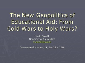 The New Geopolitics of Educational Aid - UK National Commission ...