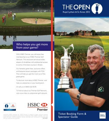 Who helps you get more from your game? Ticket ... - Visit Lancashire