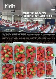 ImportIng Workers, exportIng strAWberrIes - FIDH