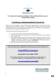 Utvärdering av flaggskeppsinitiativet Unga på väg - Europa