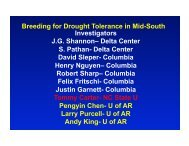 Drought Tolerance Breeding in the Mid-South - SoyBase