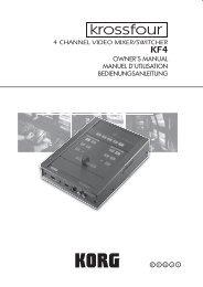 owner's manual manuel d'utilisation bedienungsanleitung ... - Korg