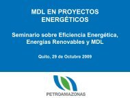 MDL y Financiamiento de Proyectos - Tech4CDM