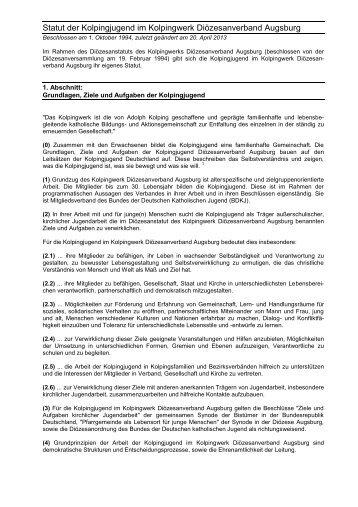 Beschlossen am 1 - Kolpingjugend Diözesanverband Augsburg