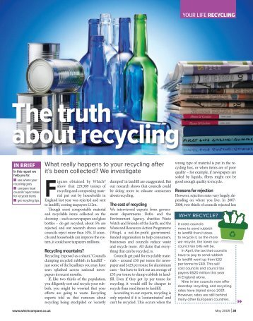 The truth about recycling - JulieHunter.co.uk