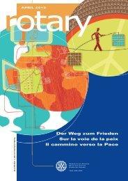 Der Weg zum Frieden Sur la voie de la paix Il ... - Rotary Schweiz