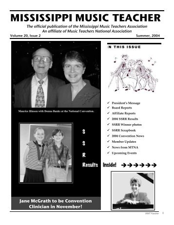 MMTA Summer 2004 Newsletter - Mississippi Music Teachers ...