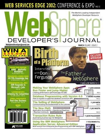 WEB SERVICES EDGE 2002 - sys-con.com's archive of magazines ...