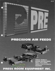 Pressroom Equipment Air Feeds Brochure - Sterling Machinery