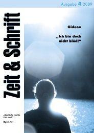 Heft 4/2009 - Zeit & Schrift