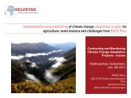 Helvetas Peru - SDC Climate Change and Environment Network
