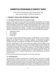 Grimstad Renewable Energy Park - Hydrogen Implementing ...
