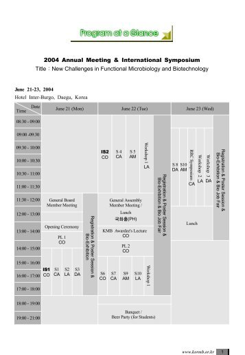 2004 Annual Meeting & International Symposium Title:New ...