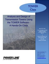 Analysis and Design of Transmission Towers Using TOWER