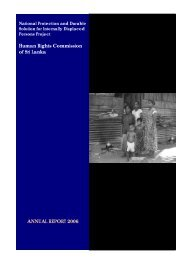 ANNUAL REPORT 2006 Human Rights Commission ... - IDP SriLanka