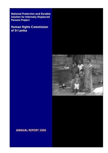 ANNUAL REPORT 2006 Human Rights Commission ... - IDP SriLanka