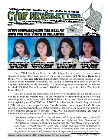 250 E 4th CYDF Newsletter, Vol.1, Issue 4, 2005 August 2006