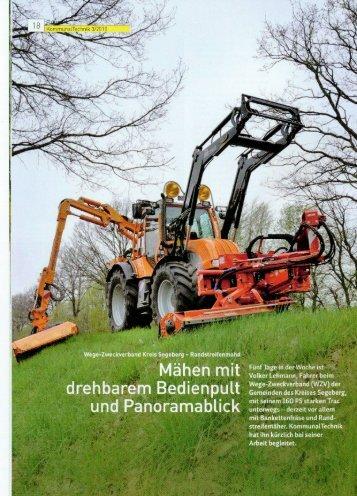 Zeitschrift Kommunaltechnik Mähen mit drehbarem Bedienpult (2.4 ...