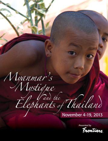 Elephants of Thailand Myanmar's Mystique - Frontiers Elegant ...