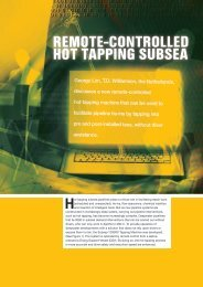 remote-controlled hot tapping subsea - T.D. Williamson, Inc.