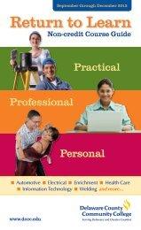 Fall 2013 Non-Credit Course Guide - Delaware County Community ...