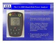The CA-2000 Hand-Held Power Analyzer - AYA Instruments