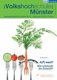 Jahresprogramm 2012/2013 - Volkshochschule Münster - Stadt ...
