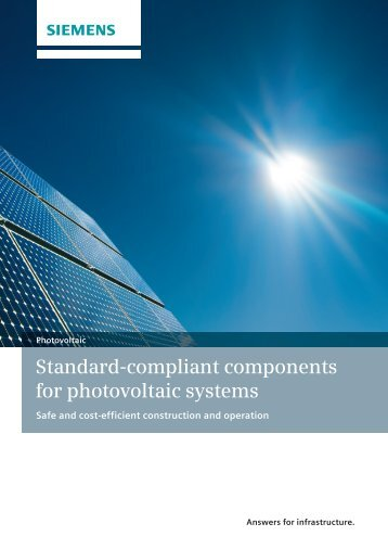 Standard-compliant components for photovoltaic systems - Siemens