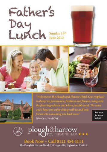 Download a PDF menu - Plough and Harrow Hotel