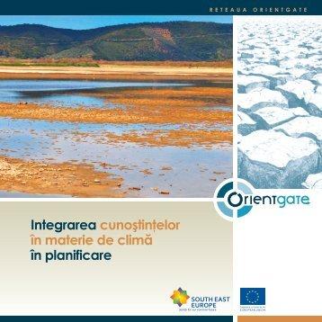 Integrarea cunoştinţelor în materie de climă în planificare