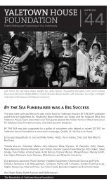 Winter 2010 Yaletown House Foundation Newsletter