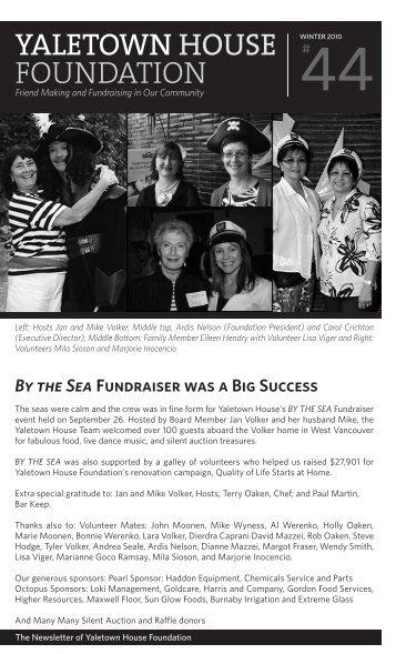 Winter 2010 Yaletown House Foundation Newsletter