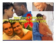 New Jersey HIV/AIDS Epidemiologic Profile 2010 - HIV Prevention ...