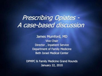 Prescribing Opiates - Department of Pain Medicine and Palliative Care