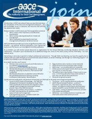 Membership Information and Application - AACE International