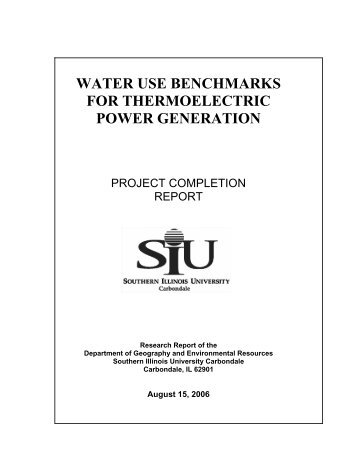 water use benchmarks for thermoelectric power ... - Circle of Blue