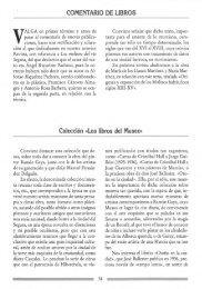 COMENTARIO DE LIBROS Colección «Los libros del Museo»