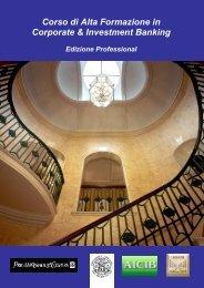 Corso di Alta Formazione in Corporate & Investment Banking ... - AICIB