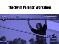 The 13 and Over Swimming Parents Handbook - Hornet Swim Club