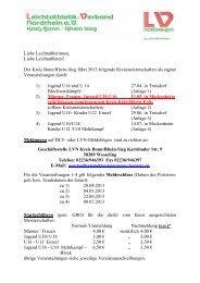 Allgemeine Informationen - LVN-Kreis-Bonn-Rhein-Sieg