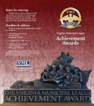 Achievement Awards - the Virginia Municipal League