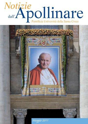 Maggio 2011 - Pontificia Università della Santa Croce