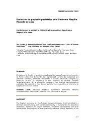 Evolución de paciente pediátrico con Síndrome ... - SciELO - Infomed