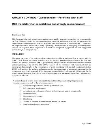 questionnaire for quality control Quality control is the process of identity the defect and quality assurance is a process of improvement quality control is reactive action quality assurance is a protective action qc is a set of acti.