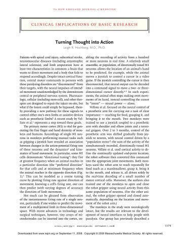 Turning Thought into Action